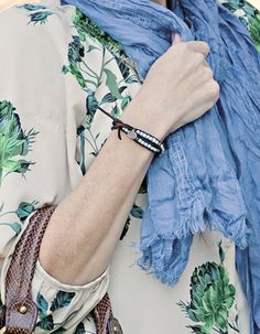 A Super Easy DIY Beaded Leather Bracelet | Fab You Bliss
