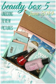 Beauty Box 5 June 2014 Review, Pictures: Summer Chic || via @Glamorable!! #bbloggers #beauty #beautybox #beautybox5 #subscriptionboxes #beautysamples #nickaknewyork #ogx #glamnatural #eslor #vitabath