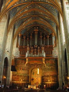 St Cecile Cathedral & organ, Albi, France