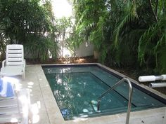 The pool/spa at our rental in Key West. The perfect small pool.