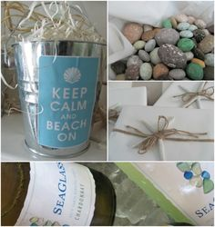 Veggies and dip pails for a beach themed bridal shower cakes beach themed bridal shower decore post for more junglespirit Choice Image