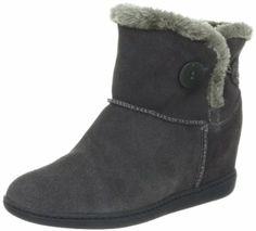 Skechers Women's Keepsakes Brrrr Boot, Charcoal, 9.5 M US