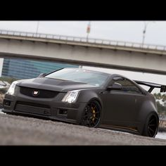 Cadi CTS-V Coupe....ratrod-ish! (Murdered out)