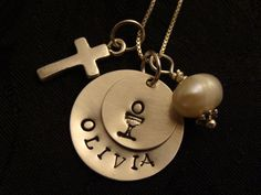 1st Communion necklace for my daughter!