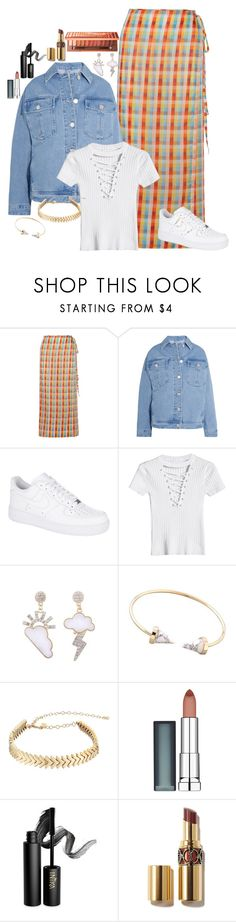 """""""Untitled #3901"""" by fashion-nova ❤ liked on Polyvore featuring Miu Miu, Topshop Unique, NIKE, Rebecca Minkoff, Maybelline, INIKA and Urban Decay"""