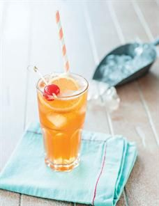 Pour Aperol, fruit brandy (we used apricot) and cherry liqueur into a shaker. Top with a light lager. Garnish with a lemon slice and a maraschino cherry. Cherry Liqueur, Lemon Slice, Happy Hour, Affair, Entertaining, Fruit, Drinks, Desserts, Recipes