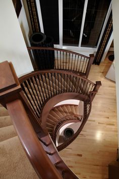 From Baywest - 517 Mahogany Manor, an elegant and detailed custom staircase