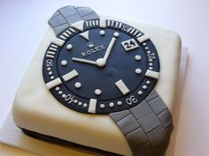 Rolex Watch Cake Shared by Career Path Design Birthday Cakes For Men, Cakes For Boys, Cake Design For Men, Novelty Cakes, Occasion Cakes, Creative Cakes, Fondant Cakes, Celebration Cakes, Cupcake Cookies
