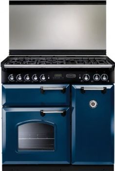 Buy Rangemaster Classic Lidded Regal Blue with Chrome Trim Dual Fuel Range Cooker Dual Fuel Range Cookers, Kitchen Appliances, Kitchens, Chrome, Cooking, Classic, Ovens, Kitchen Ideas, Blue