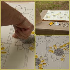For our guest book we had friends and family put a thumbprint for a sunflower petal instead of the classic tree.