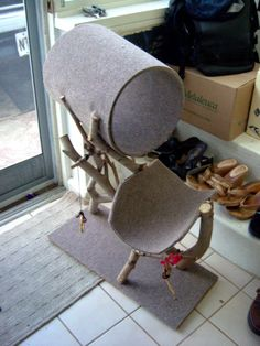 DIY Cat tree house by tyandtati.com, via Flickr