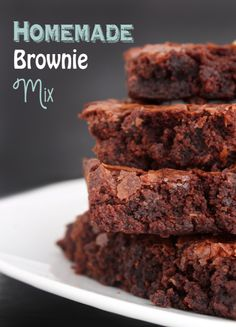 Homemade brownie mix ... use 1 cup sugar (not 2) and about 3/4 cup pumpkin and 1/4 butter instead of 1 cup margerine and to be fudgy not cakey - only 2 eggs