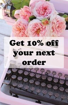 Get your regular dose of home decor, accessories, jewelry and stationery by signing up now and receive a discount code for your next order!