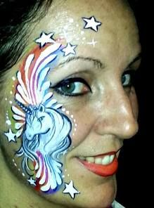 Face Painter in Salt Lake City and all over Utah Face Painting Unicorn, Body Painting, Arm Art, Salt Lake City Utah, Zebras, Paint Designs, Independence Day, Face And Body, Unicorns
