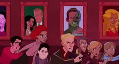 Yep, the gang's all here: Xander, Willow, Angel, Spike, Giles, Buffy, and Dawn.| Fan Made Opening Sequence For The Animated Adventures of Buffy the Vampire Slayer.