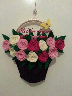 Keçe çanta çiçek