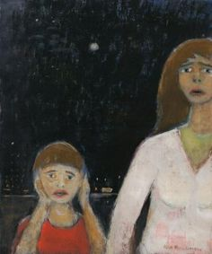 Jean Paul Lemieux, Angoisse, Oil on canvas