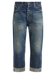 Wide-leg low-rise distressed jeans | Chimala | MATCHESFASHION.COM US