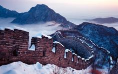 Great Wall covered in snow