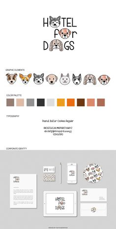 Concept Hotel for Dogs #dog #logo #branding #corporate identity #graphic design #illustration