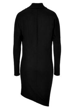 HELMUT LANG Wool Sonar Long Sleeve Draped Dress