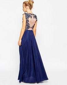 Image 2 ofASOS Lace Placement Pretty Maxi Dress