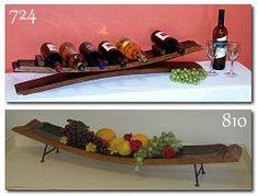 Wine Barrel Server Tray
