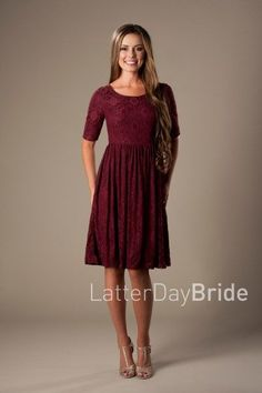 lace modest dresses MDS 1615 at LatterDayBride