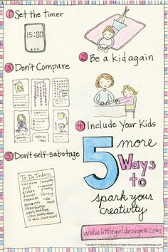 Easy ways to get in your creative groove this year!  @Little Girl Designs