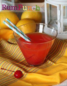 Rum Punch ~ 1 oz Pineapple Juice, 1 oz Orange Juice, 1 oz Coconut Rum, Splash of Grenadine  Sprite