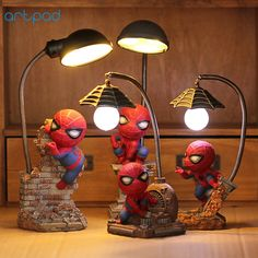Super Spiderman Avengers Union 3 Led Night Light Resin Craft Kid's Home Desktop Table Lamp Figurines Birthday Xmas Wedding Gifts Christmas Gifts For Kids, Kids Gifts, Figurine Avengers, Spiderman, Marvel Kids, Marvel Heroes, Diy And Crafts, Crafts For Kids, Led Desk Lamp