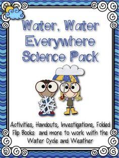 Water, Water Everywhere! Water Cycle & Weather Pack | Chrissy Beltran | {3-4}
