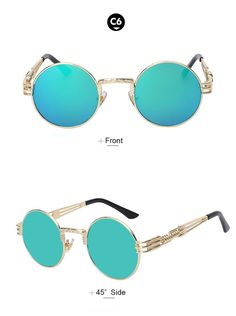 0a4ce00bdf Designer Boho Style Steampunk Style Sunglasses – Available in 10 Colors