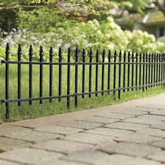 Border your garden or lawn with this tasteful Metal Garden Fence. Features a classic and elegant wrought-iron design and includes five metal panels for 9 feet of fencing. Shop now! Outdoor Garden Decor, Garden Decorations, Metal Garden Fencing, Metal Panels, Lawn And Garden, House Colors, Lush, Fence, Planters