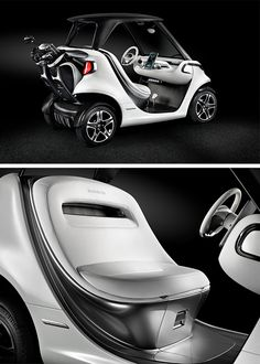 """Vehicles with Mercedes-Benz design are already to be seen on water, on land and in the air. Now they will also be seen on golf courses. As a """"real sports car"""", the Mercedes-Benz Style Edition Garia Golf Car authentically transfers the unmistakable Mercedes-Benz automobile design idiom of sensual purity to a premium-class golf cart."""