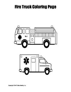 This Coloring Page Featuring A Fire Truck Image Is Perfect For Lessons And Activities About