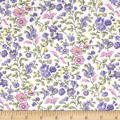 Michael Miller Veranda Sweet Vine Lilac from @fabricdotcom  Designed for Michael Miller, this cotton print fabric is perfect for quilting, apparel and home decor accents. Colors include black, pink, white, shades of green, and shades of purple.