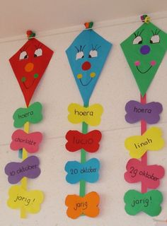 Preschool Activities and Materials Birthday Chart Classroom, Birthday Bulletin Boards, Classroom Charts, Birthday Charts, Art Bulletin Boards, Teacher Classroom Decorations, School Decorations, Classroom Displays, Kids Crafts