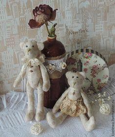 Купить Семейка мишек в стиле Тильда. - коричневый, мишки ручной работы, мишка тильда