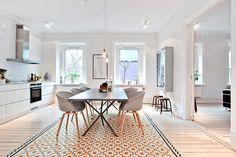 küche. stil plus ikea teppich: und es sieht gut aus.