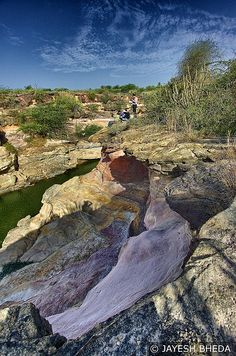 Cliff of the bank of Kodki river, Bhuj, Kutch, Gujarat Largest Countries, India Travel, Incredible India, Holiday Destinations, Cliff, Grand Canyon, The Incredibles, River, Places