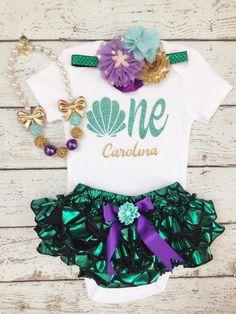 Mermaid Birthday outfit/Little mermaid/1st Birthday by BabyTrendzz