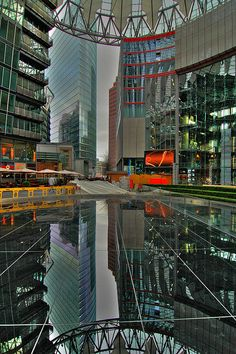 Berlin - Sony Center Reflection - This is a VERY COOL Pic! (HDR)
