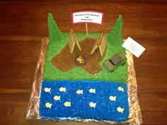Blake's cake from the 2013 cake auction. Won award for best cub scout themed cake.