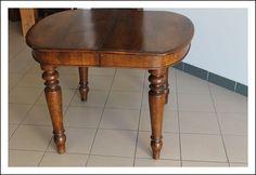 Antico tavolo Lombardo L. Filippo Allungabile! Tavolino 105 cm ovale Antiquariato sedie