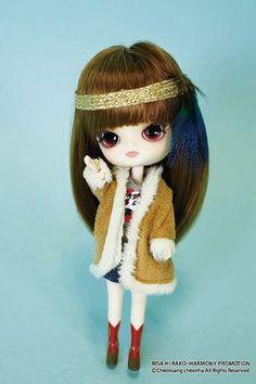 Little Pullip Dolls Docolla Vintage Rock Girl Risa Mini Dal Doll Anime Fashion