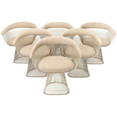 Warren Platner Dining Set | From a unique collection of antique and modern dining room chairs at https://www.1stdibs.com/furniture/seating/dining-room-chairs/