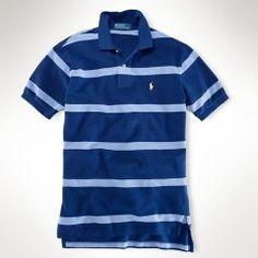fbf5d2a7 Polo Ralph Lauren para hombre Classic-Ajuste ancho Polo rayas azul oscuro