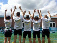 The SB Fitness Team celebrating finishing the Perth Relay Wild Triathlon as best local team and showing off the Joy of Sport logo! #joyofsport  www.joyofsport.co.uk