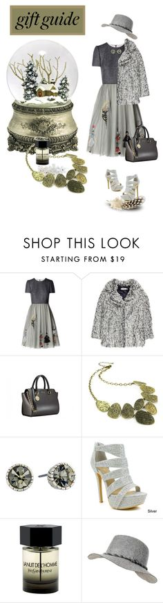 """""""Gift Guide for my Bestie"""" by ragnh-mjos ❤ liked on Polyvore featuring RED Valentino, H&M, Emi Jewellery, The Sak, Celeste, Yves Saint Laurent and Black Rivet"""
